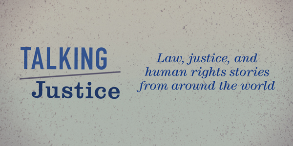 Talking Justice podcast banner
