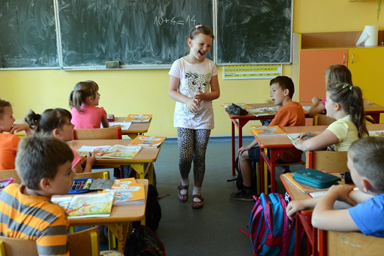 Polish schoolchildren